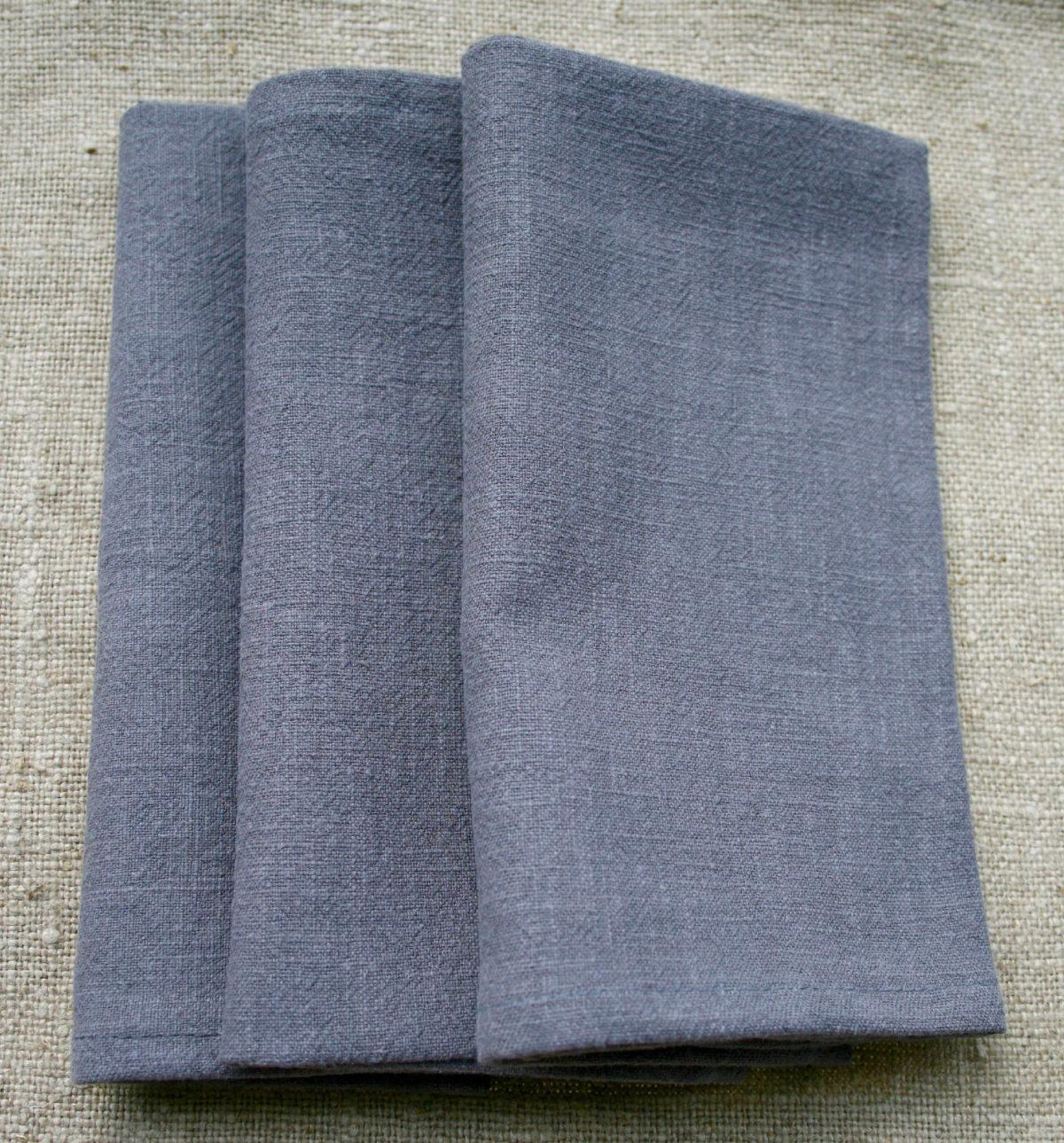 serviette-table-lin-gris