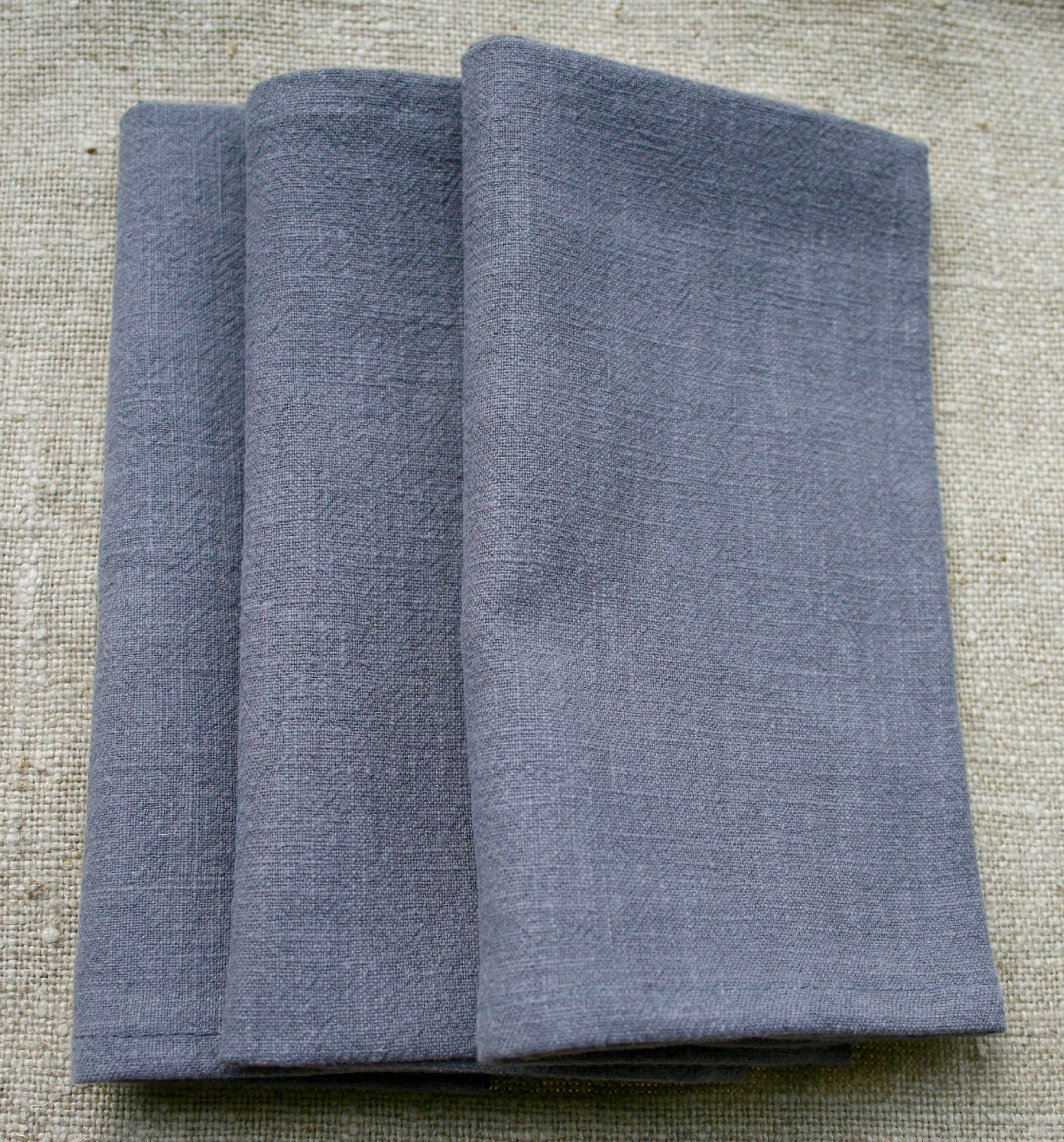 serviette-table-lin-gris