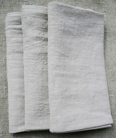 Serviette de table lin lavé   4 couleurs   lot x4