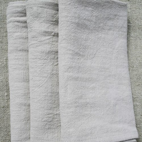 Serviette de table lin lavé | 4 couleurs | lot x4
