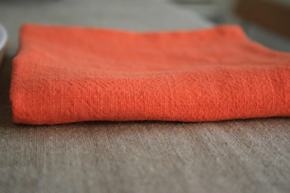serviette-lin-orange-capucine