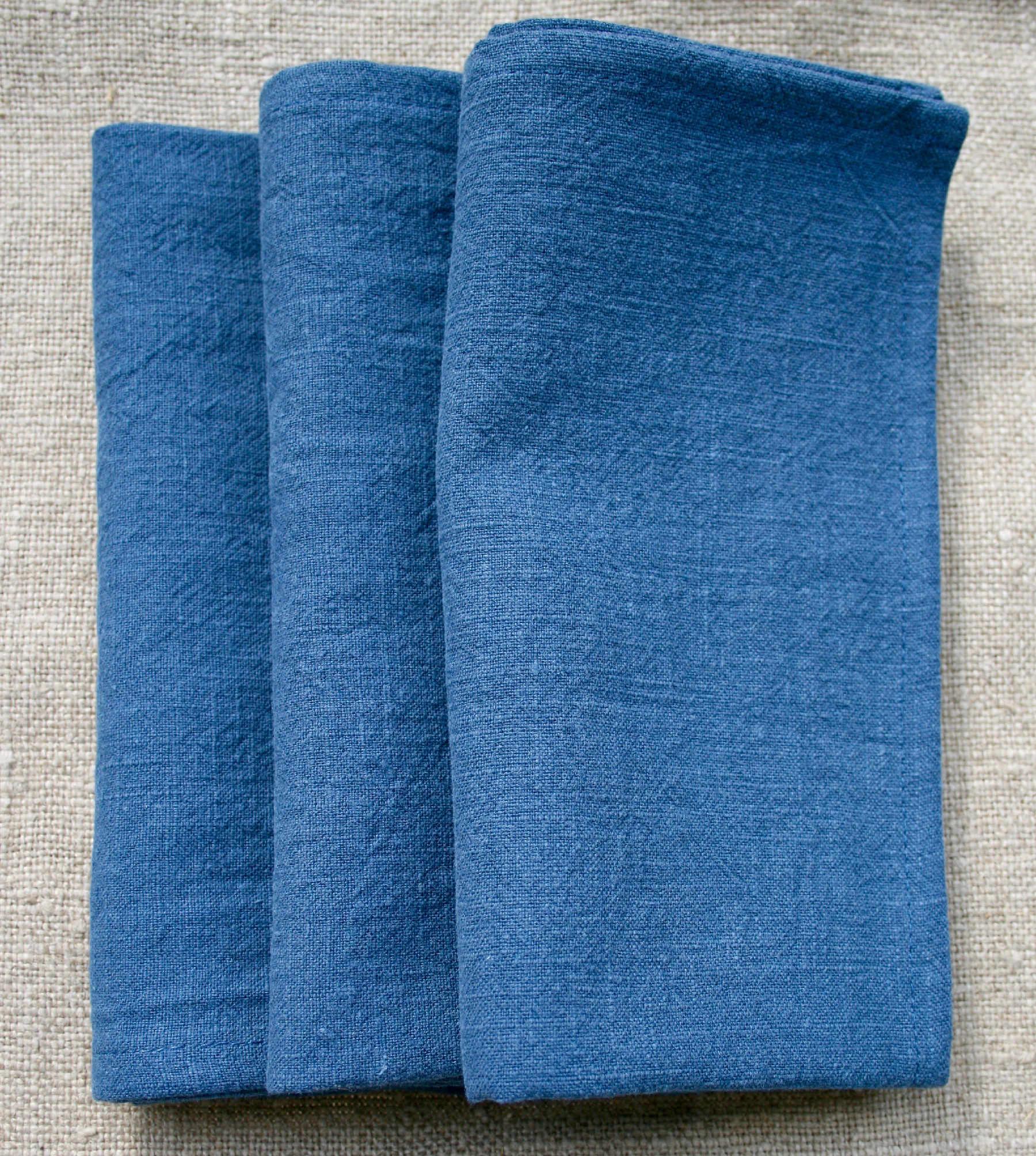serviette-table-lin-bleu