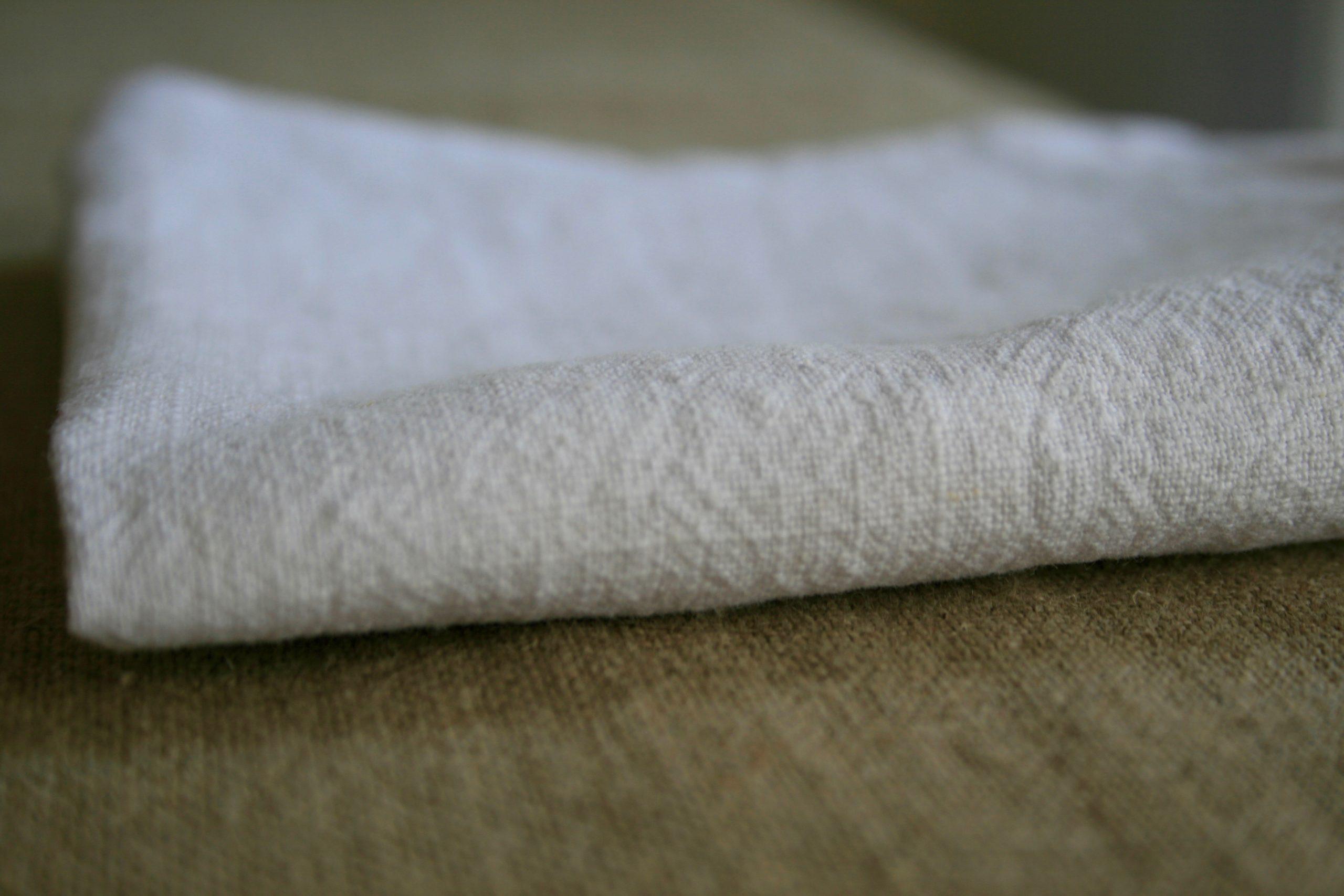 serviette-lin-blanc